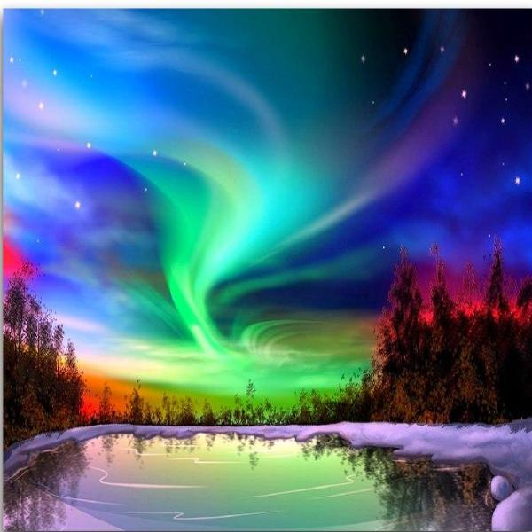 Colorful Night Sky 5D Diamond Painting Kit