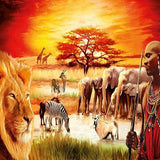 African Life 5D Diamond Painting Kit