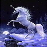 Winter Unicorn 5D Diamond Painting Kit