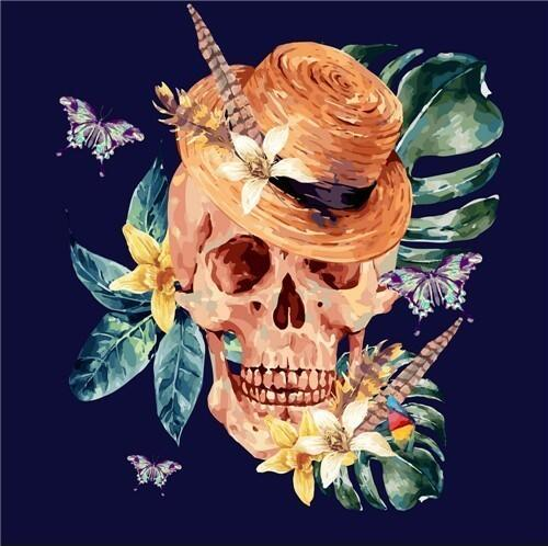 Straw Hat Skull 5D Diamond Painting Kit