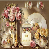 Tea Roses 5D Diamond Painting Kit