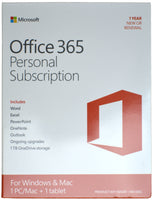 Microsoft Office 365 1 Year English Subscription/Renewal with 1TB Storage for Windows 10 & Mac