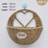 Wall Wicker Basket Potted Plant Container