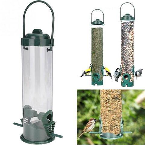 Plastic Clear Bird Feeder / Waterer