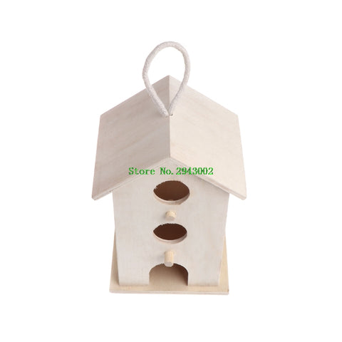 Hanging Bird House Garden Decor Feeder