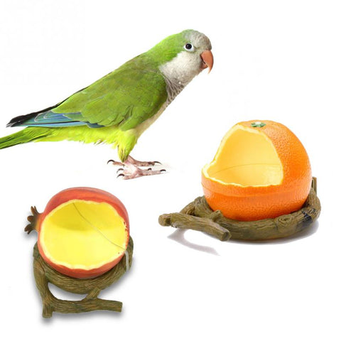 Orange Shaped Plastic Bird Feeder