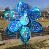Double Layer Peacock  Wind Spinner