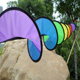 Foldable Rainbow Spiral Wind Spinner