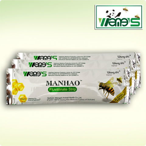 Fluvalinate Strip for Mite Varroa Wangshi Bee Medicine (80 small strips)