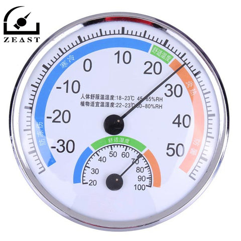 Indoor/Outdoor Stainless Steel Thermometer and Hygrometer