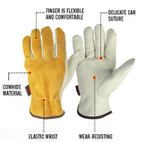 OZERO Cowhide Leather Gloves