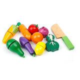 Children Wooden Garden Fruit and Vegetables Toy Set