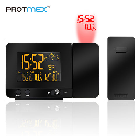 Projection Alarm Clock Weather Station with Temperature Sensor