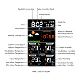Wireless Weather Station and Clock with Weather Forecast