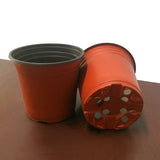 Plastic Brown & Black  Nursery Pots (Three Sizes)