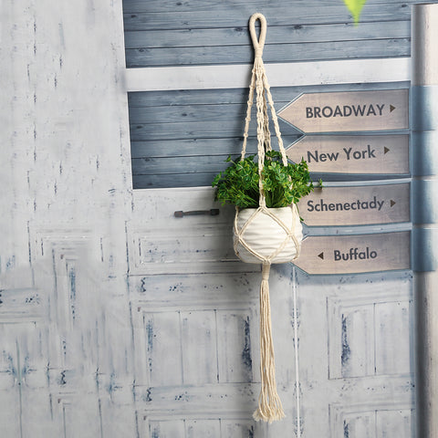 Macrame Potted Plant Rope Hanger