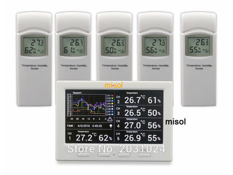 Wireless Weather Station with 5 Sensors, Data Logger, Connect to PC