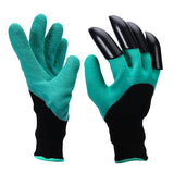 Rubber and Polyester Gardening Gloves With Claws
