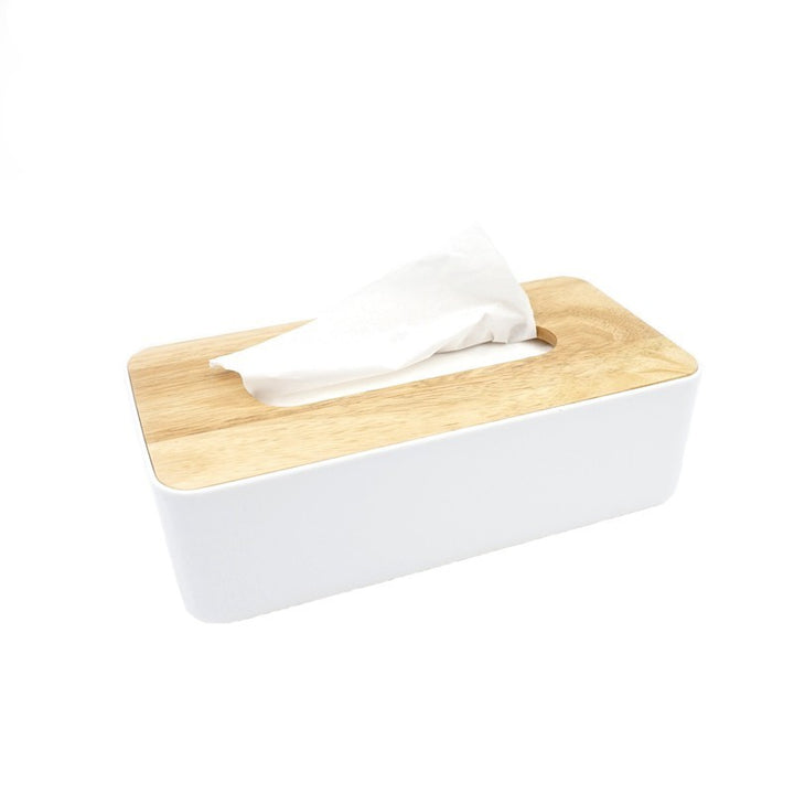 Modern Wood and White Tissue Box - Staunton and Henry