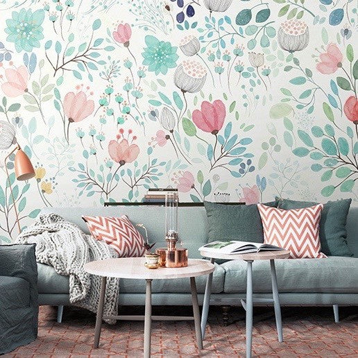 Botanicals Floral Wall Mural - Staunton and Henry