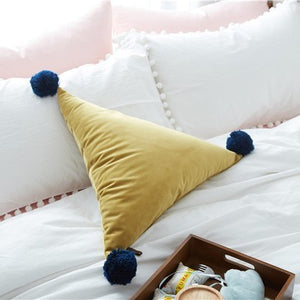 Triangle Pom Pom Cushion - Staunton and Henry