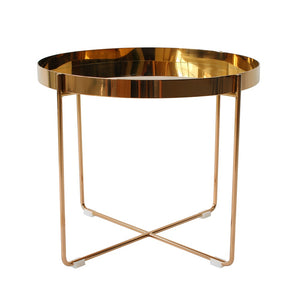 Habibi Copper Tray Side Table - Staunton and Henry