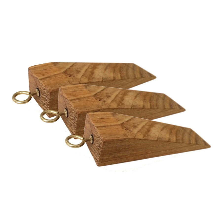 Solid Wood Door Stoppers - Set of 3 - Staunton and Henry