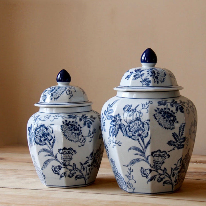 Blue & White Chinese Ceramic Urn - Staunton and Henry