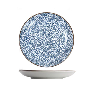 Modern Oriental Ceramic Plate in Cracked Pattern - Staunton and Henry