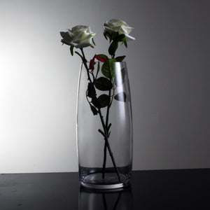 Hand-Blown Fluted Clear Glass Vase - Staunton and Henry