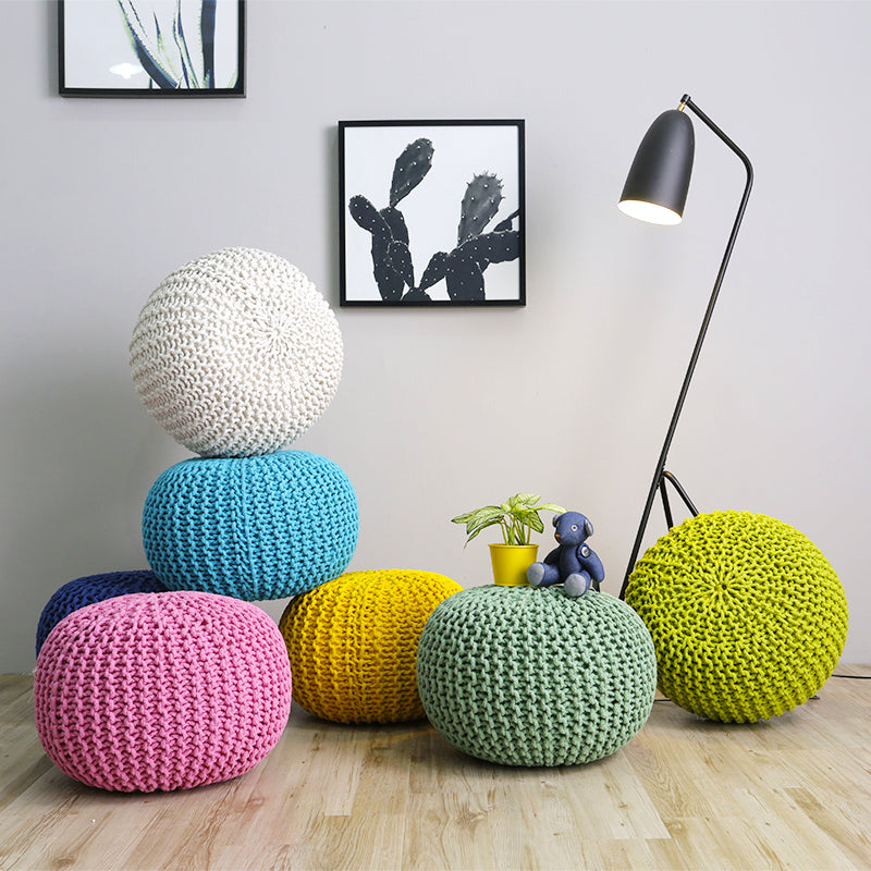 Buy Chunky Knit Pouf Hong Kong At 40% Off Staunton And Henry Impressive Turquoise Knitted Pouf