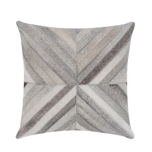 White & Grey Hide Throw Cushion Cover - Staunton and Henry