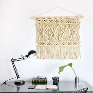 Off White Woven Wall Hanging Tapestry - Staunton and Henry