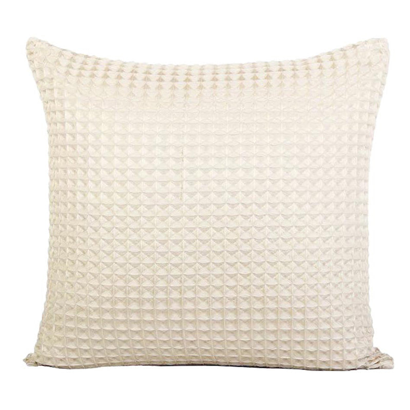 Cream Waffle Throw Cushion - Staunton and Henry