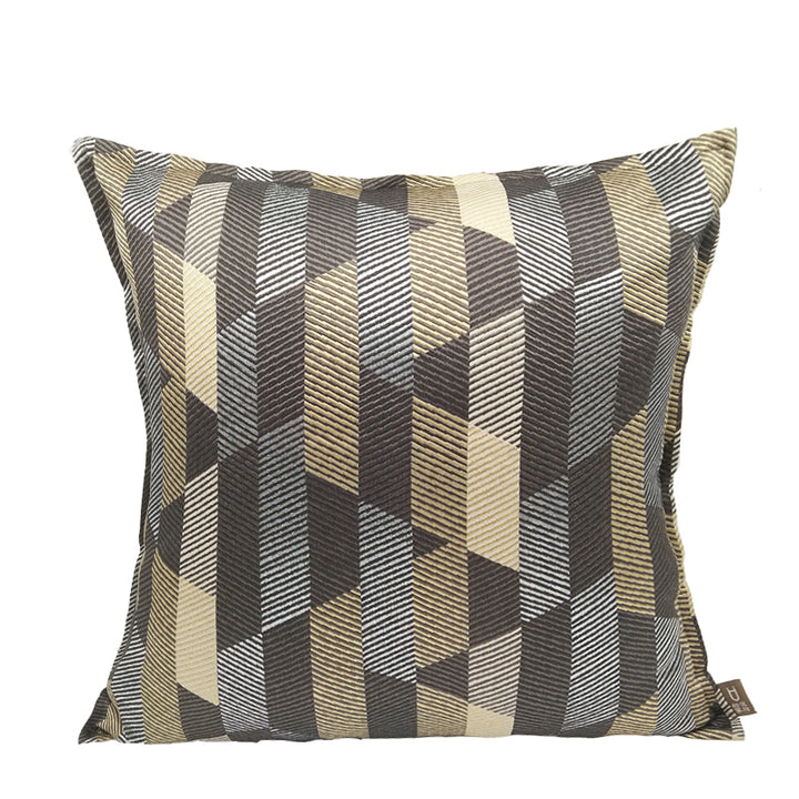 Modern Gold and Black Throw Cushion - Staunton and Henry