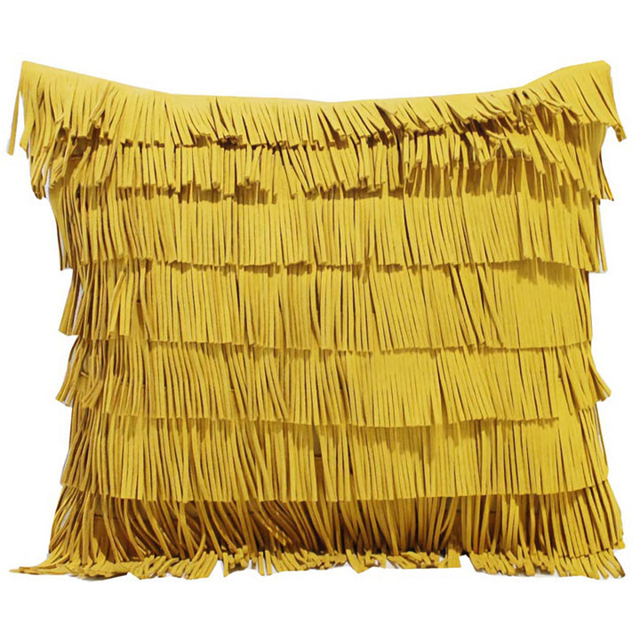 Yellow Tassels Throw Cushion - Staunton and Henry