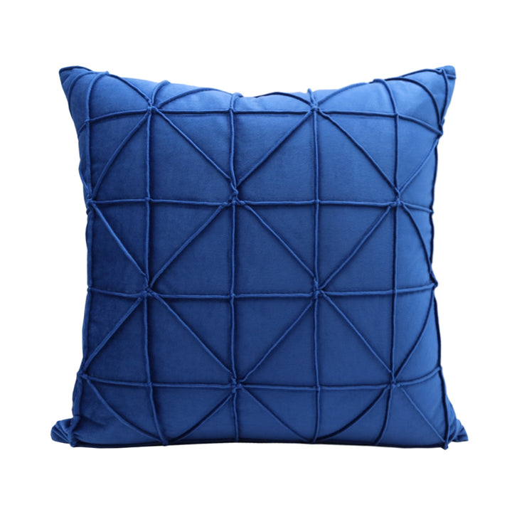 Sapphire Blue Geometric Throw Cushion - Staunton and Henry