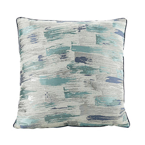 Turquoise and Blue Abstract Throw Cushion - Staunton and Henry