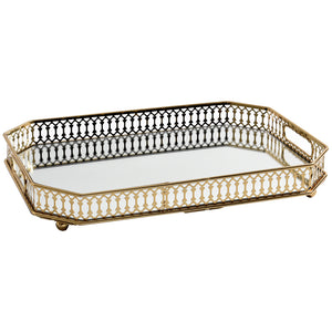 Vintage Gold Mirrored Tray - Staunton and Henry