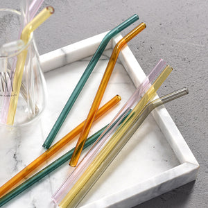 Colored Glass Drinking Straws - Set of 6 - Staunton and Henry