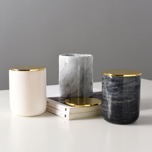 Solid Marble Candle Jar - Staunton and Henry