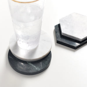Solid Marble Drink Coasters - Set of 4 - Staunton and Henry