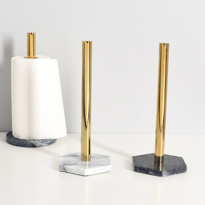 Marble and Gold Kitchen Towel Holder - Staunton and Henry