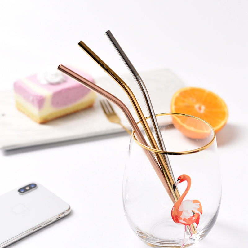 Gold Drinking Straws - Set of 3 - Staunton and Henry