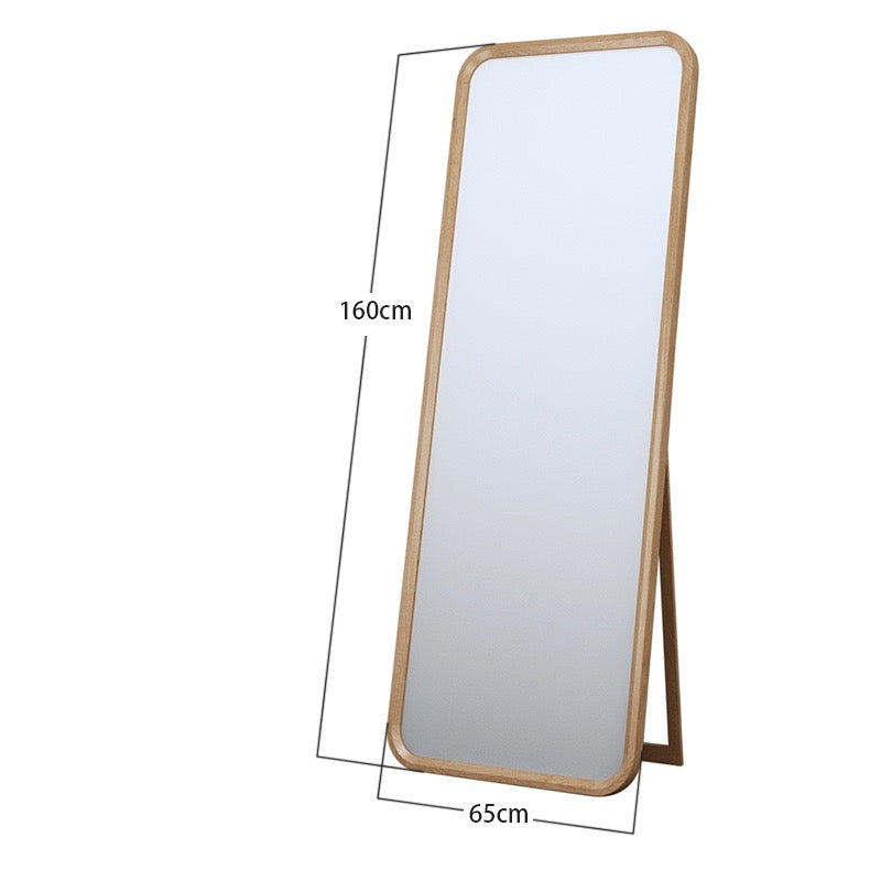 Solid Oak Standing Mirror - Staunton and Henry