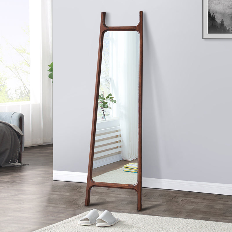Modern Oriental Solid Wood Standing Mirror - Staunton and Henry