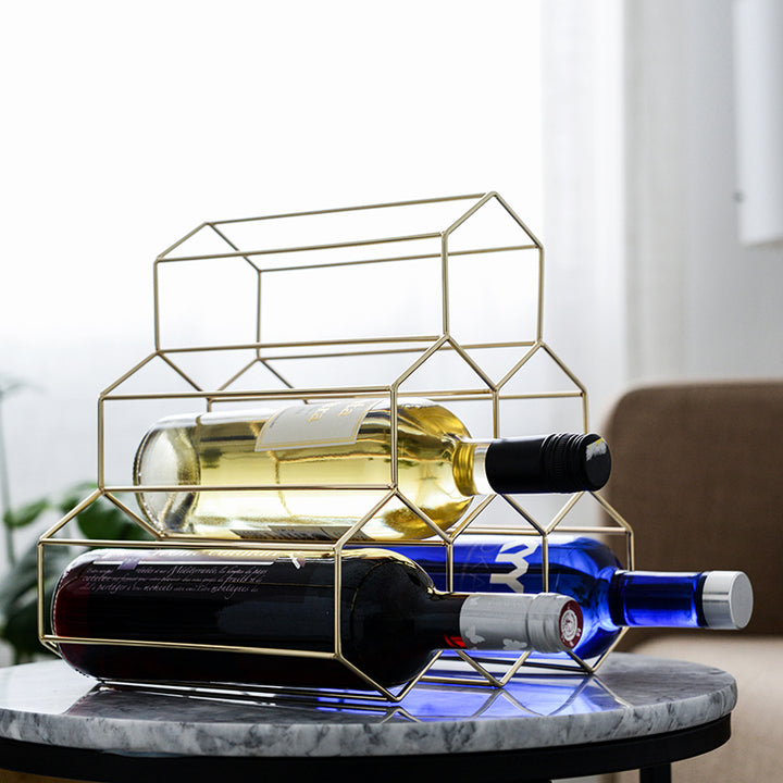Gold Hexagon Wine Rack - Staunton and Henry