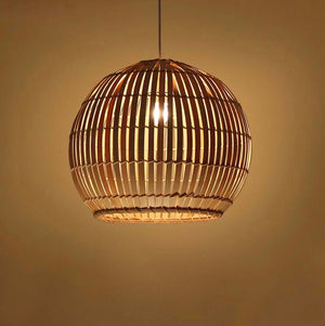 Round Japanese Bamboo Ceiling Light - Staunton and Henry