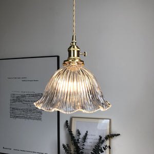 Vintage Glass Blossom Shape Pendant Light - Staunton and Henry
