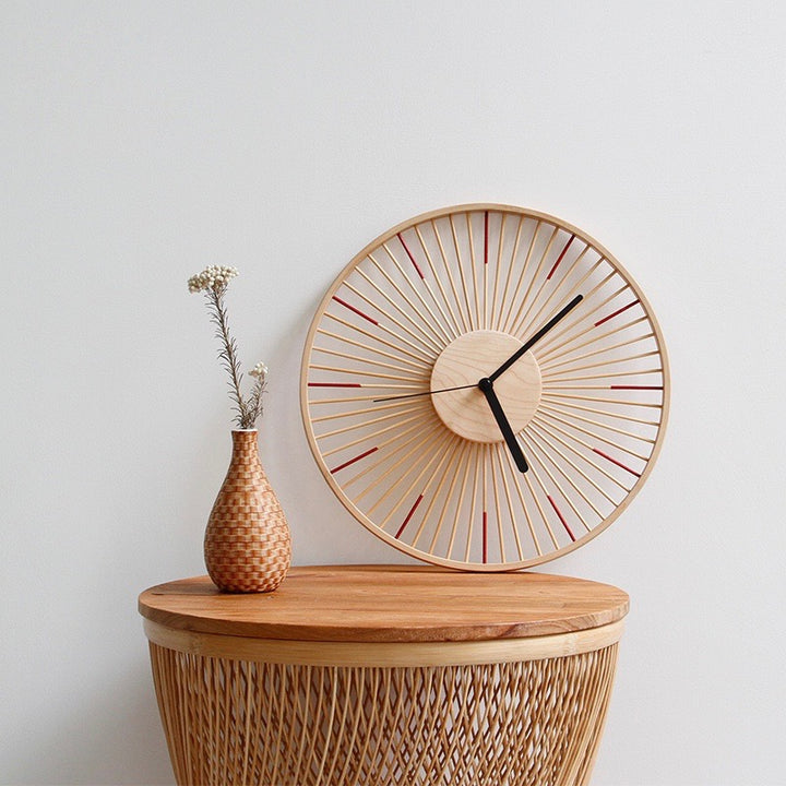 Modern Japanese Bamboo Clock - Staunton and Henry